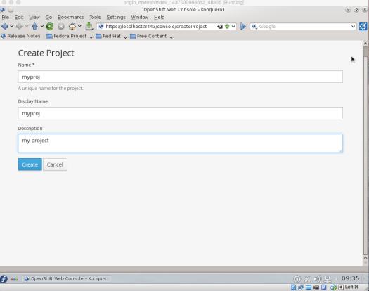 OpenShift_create_proj